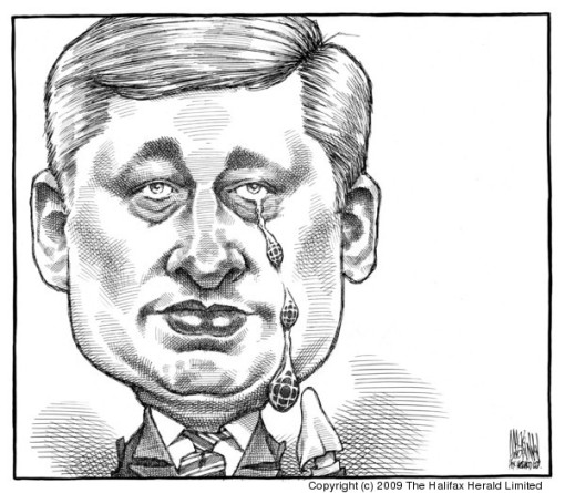 PM Harper sheds crocodile tears for the CBC