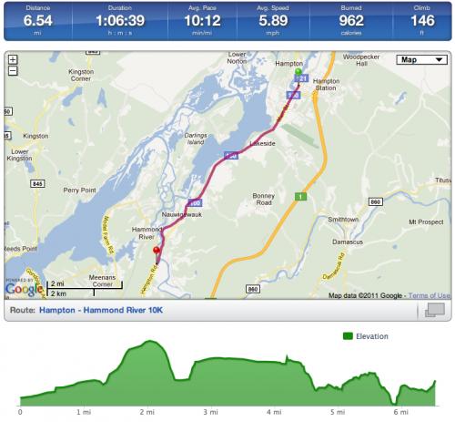 Hammond River Run Map